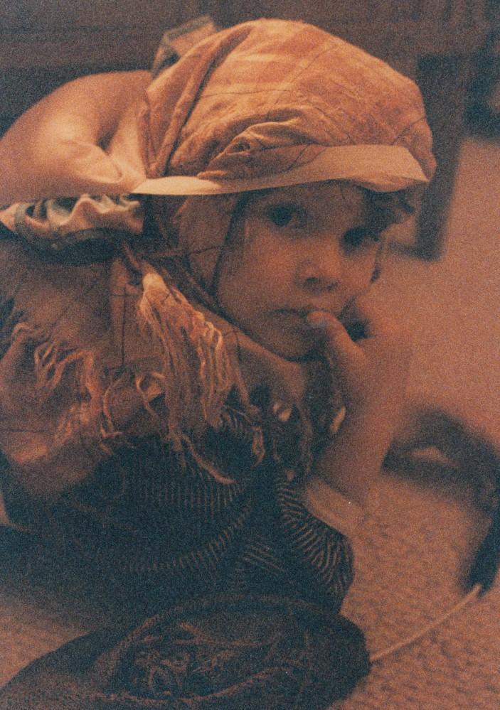 Charlotte, als Fee verkleidet, 1992