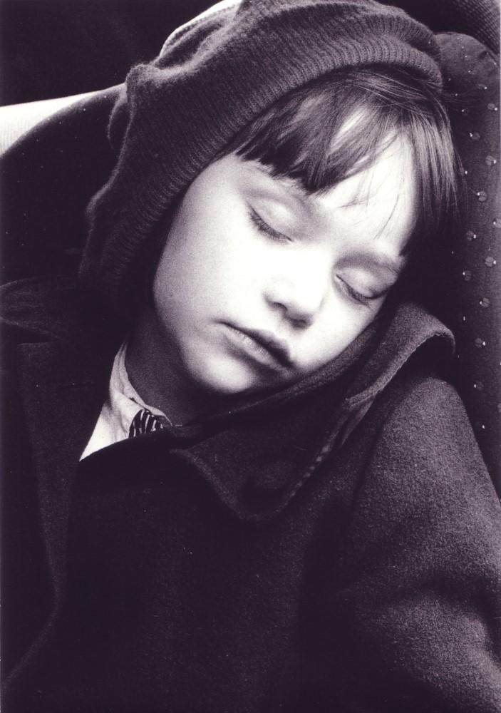 Cosima, im Auto eingeschlafen, 1999